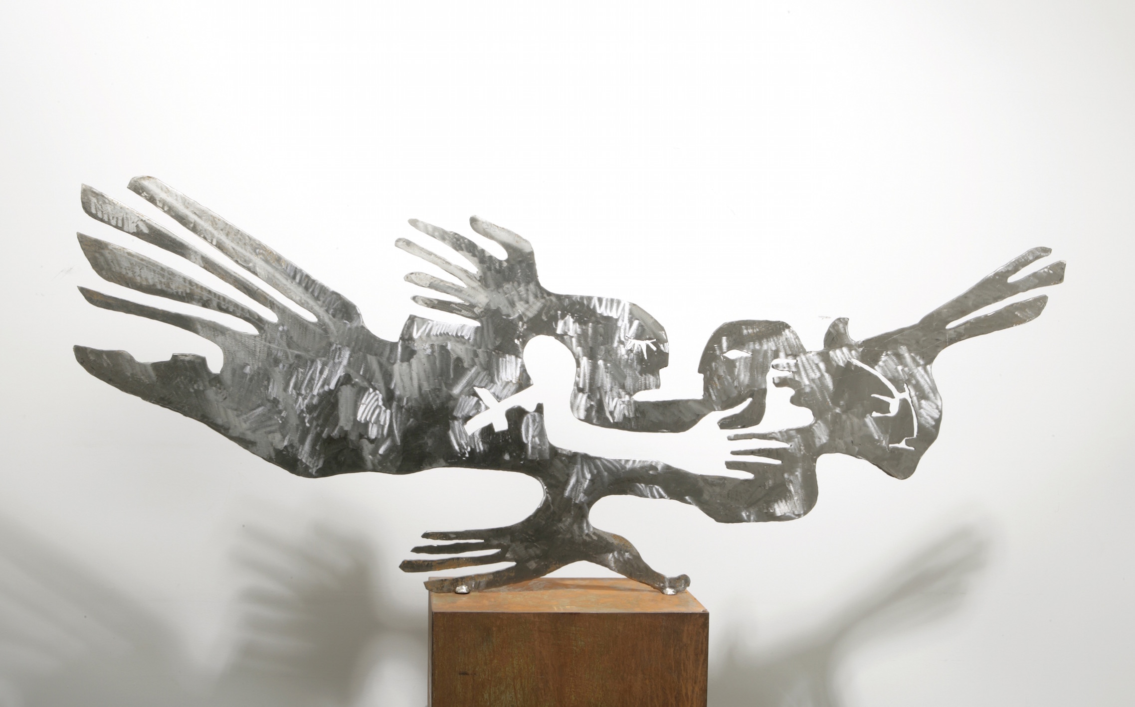 """Noospheric Bird"", steel, 165 x 60 x 0,5 cm, 2004"