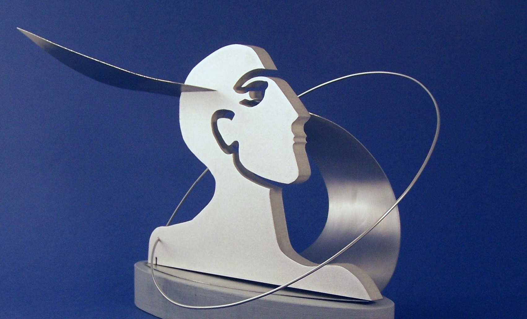 """Visionary"", stainless steel, 20 x 15 x 15 cm, 2012"
