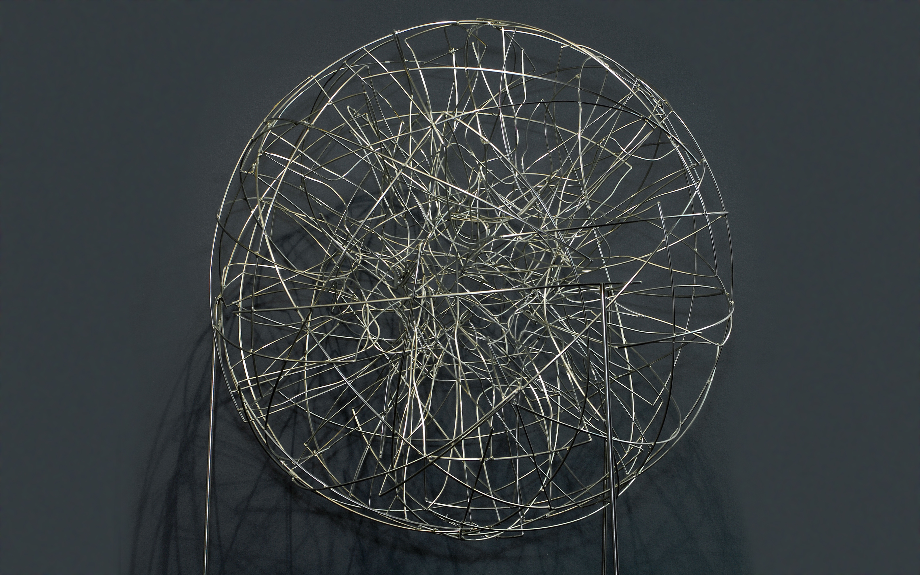 """Introplasma"", Edelstahldraht, 70 x 70 x 70 cm, 2007"