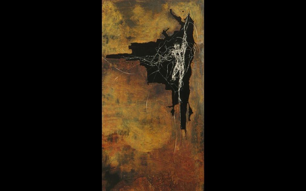 """Persona"", 2000, Stahl, Edelstahldraht, 200 X 100 X 10 cm"