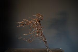 """""""race"""", 2016, steel wire, 65 X 40 X 20 cm"""